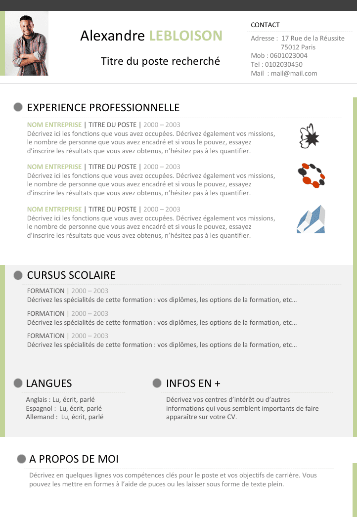 comment faire un cv avec libre office