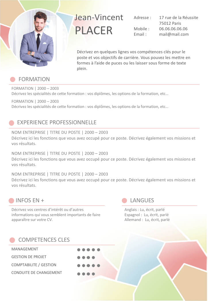 comment faire un cv colore