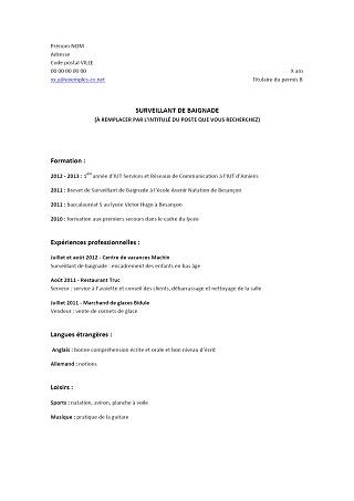 comment faire un cv d'etudiant pdf