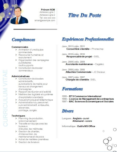 comment faire un cv de recrutement