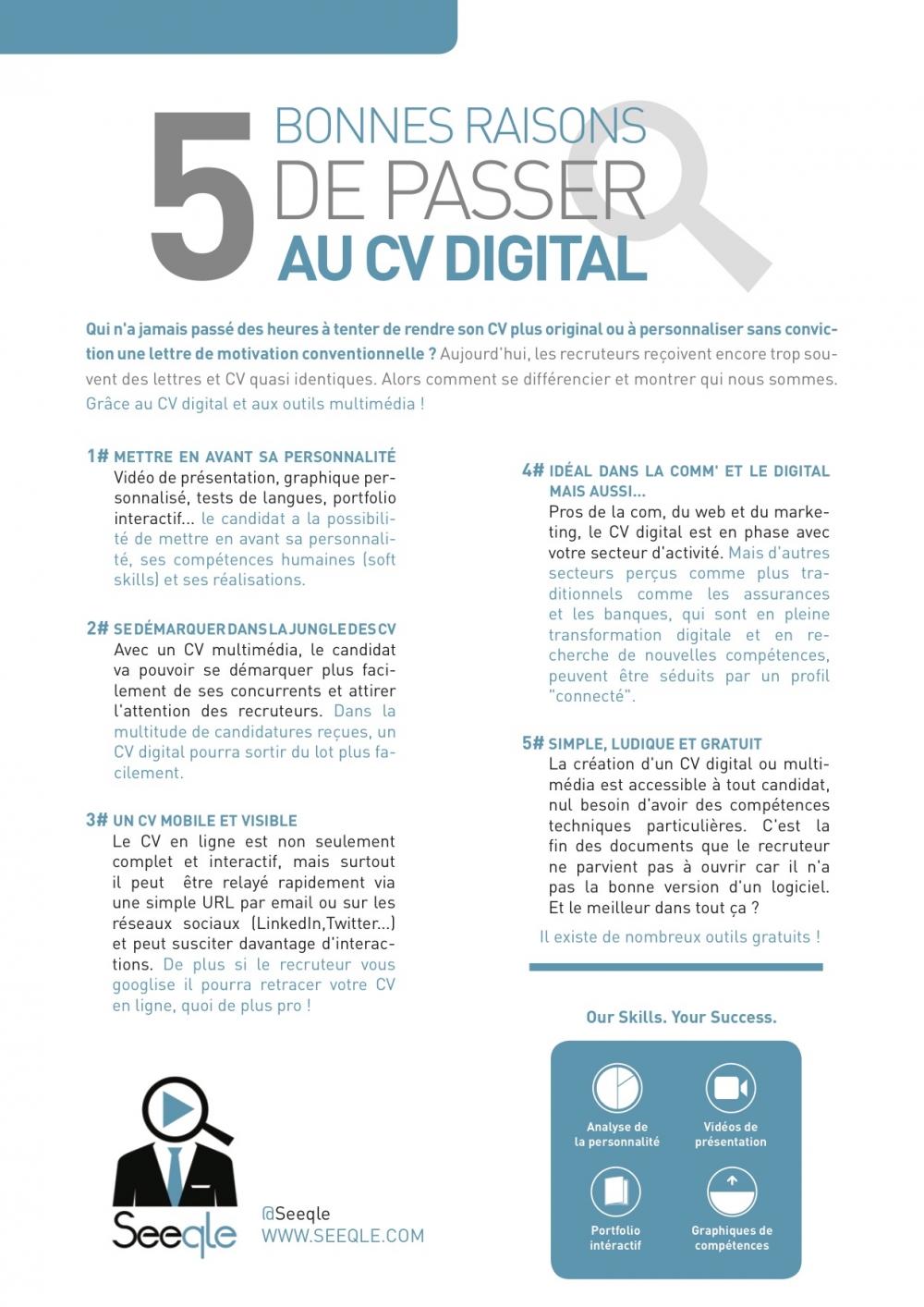 comment faire un cv digital