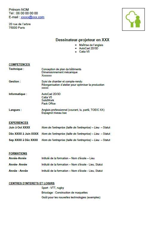 comment faire un cv en francais pdf