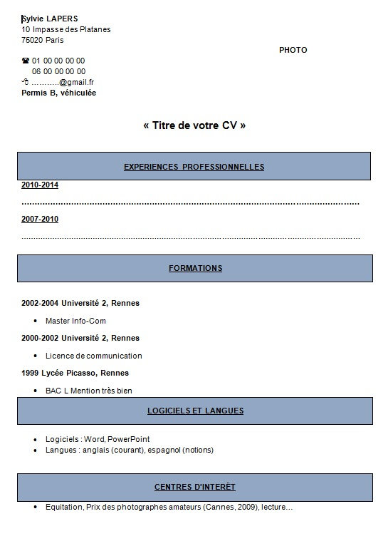 comment faire un cv et l u0026 39 imprimer