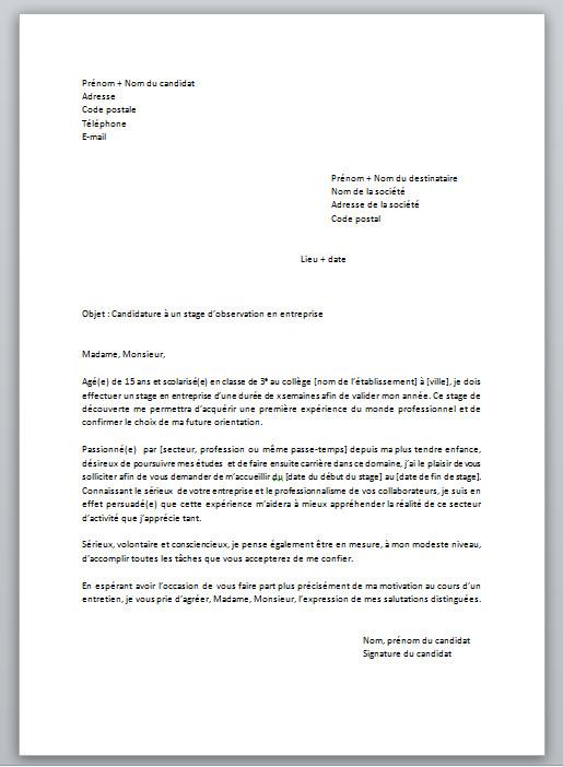 comment faire un cv et une lettre de motivation en 3eme