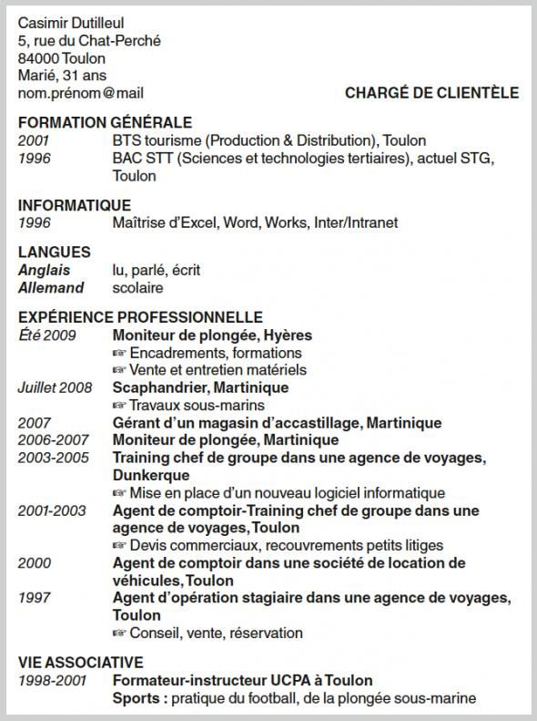 comment faire un cv interessant