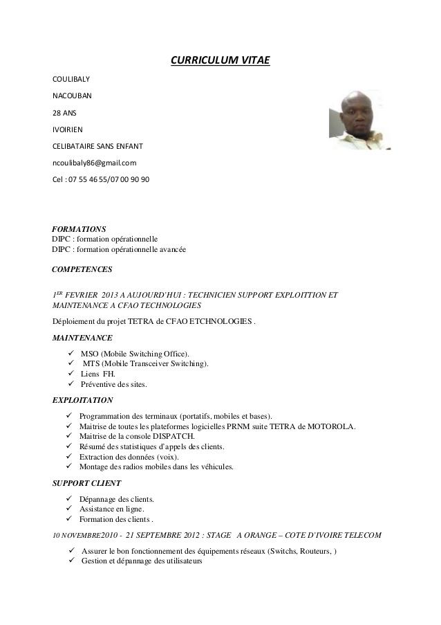 comment faire un cv ivoirien