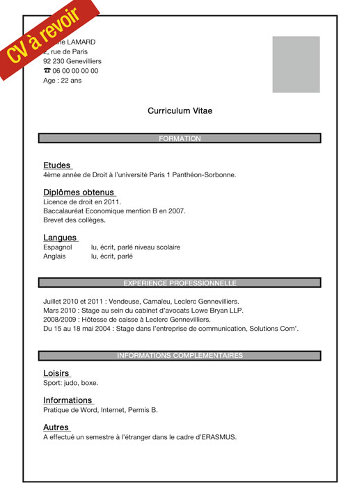 comment faire un cv job etudiant sans experience