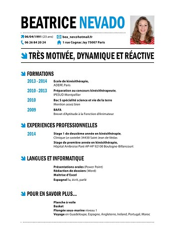 comment faire un cv kine
