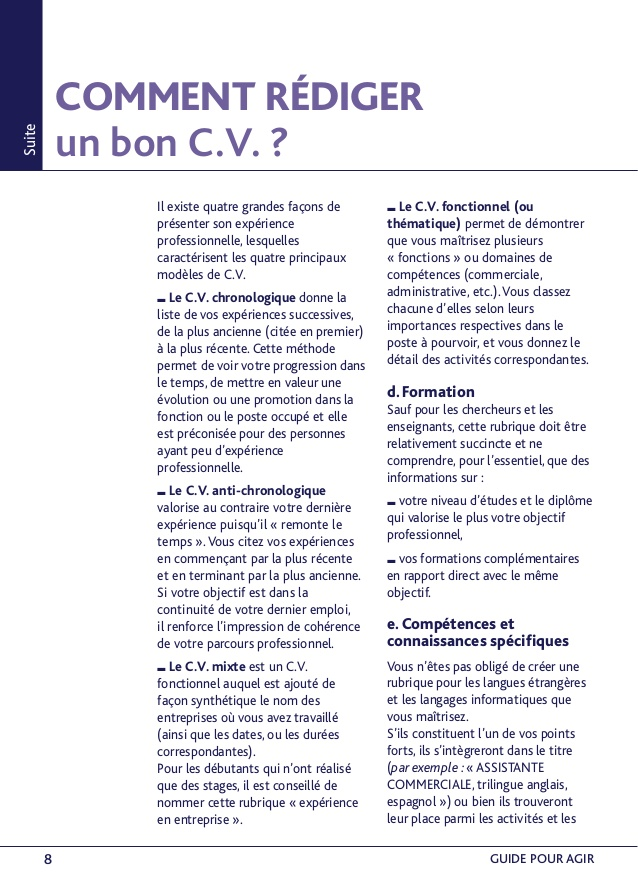 comment faire un cv mixte