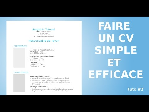 comment faire un cv moderne avec open office