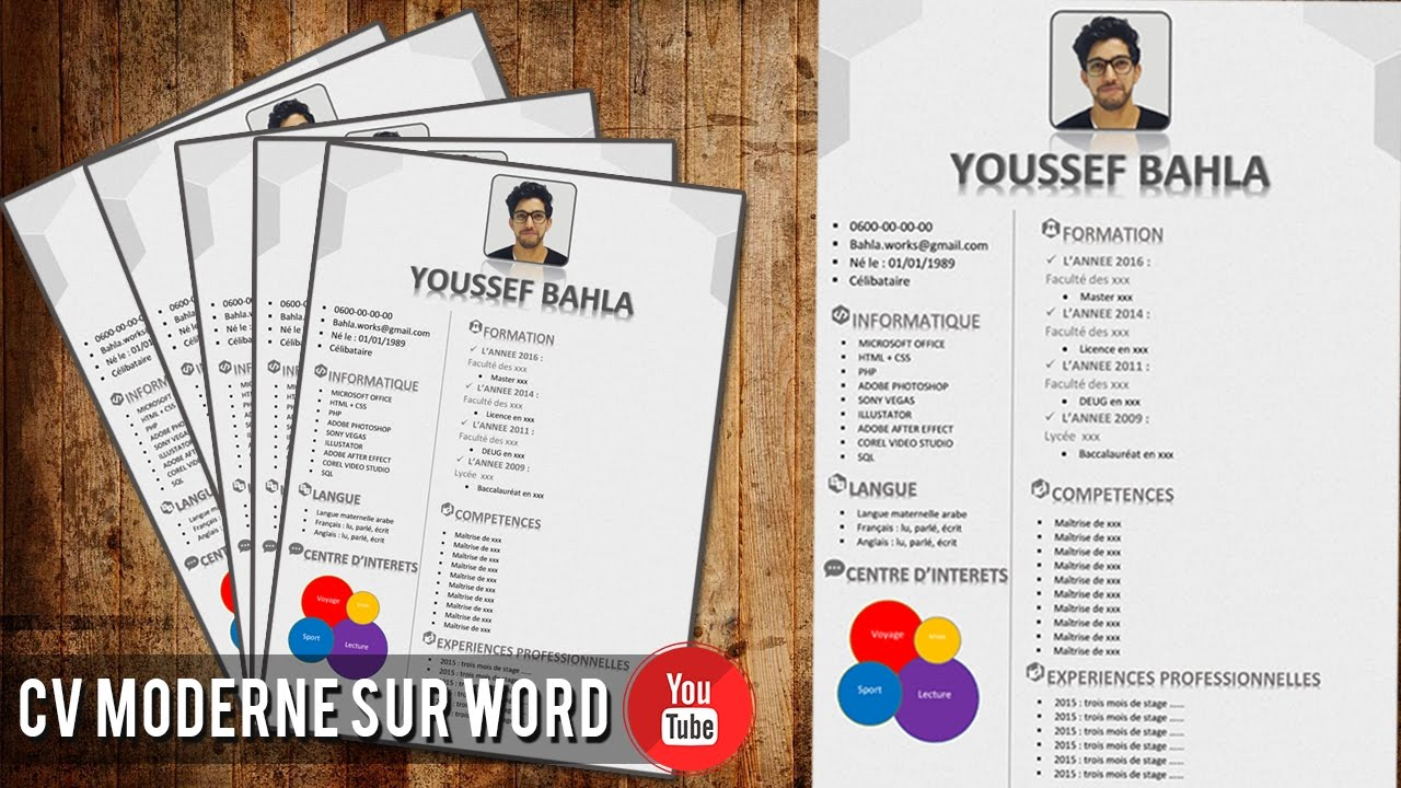 comment faire un cv moderne