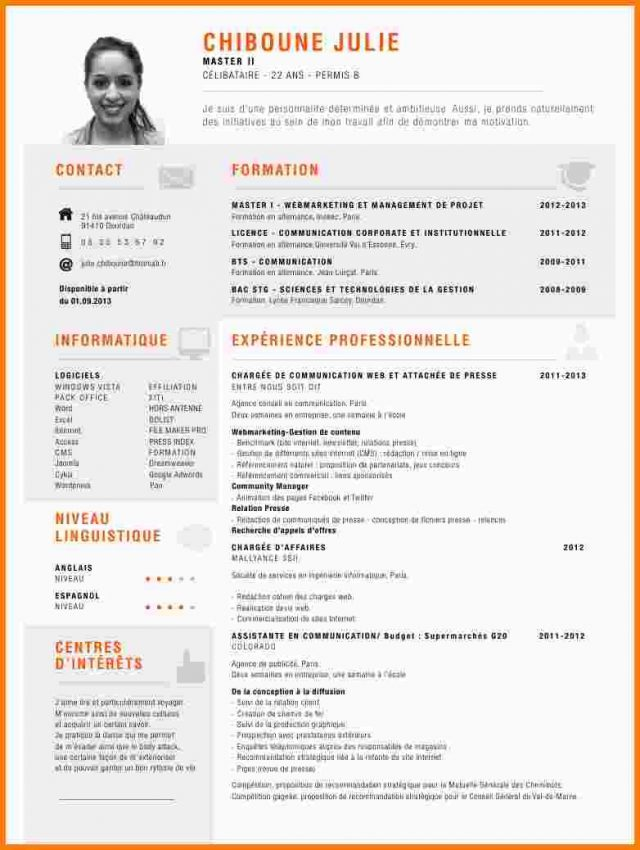 comment faire un cv officiel