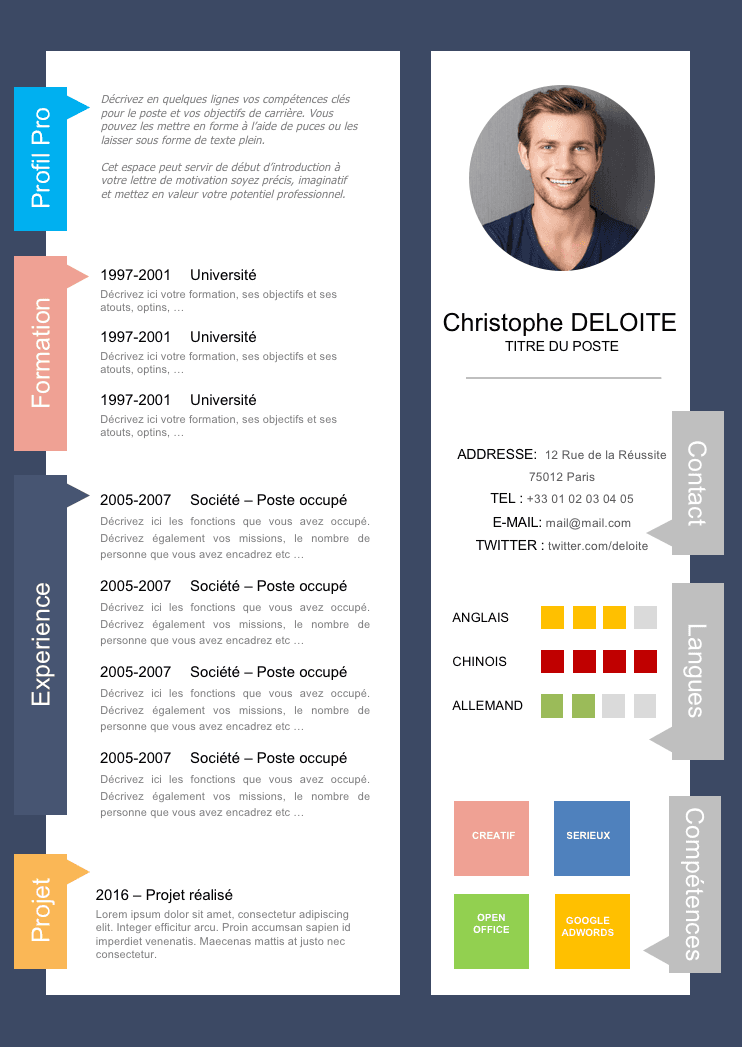 comment faire un cv original sur word