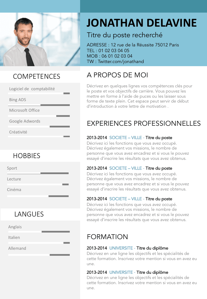 comment faire un cv original
