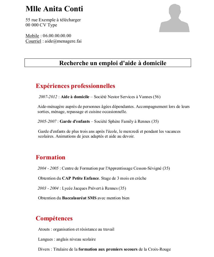 comment faire un cv pour une demande d'emploi