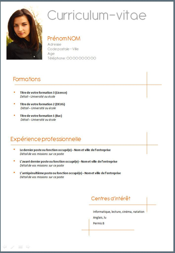 comment faire un cv simple