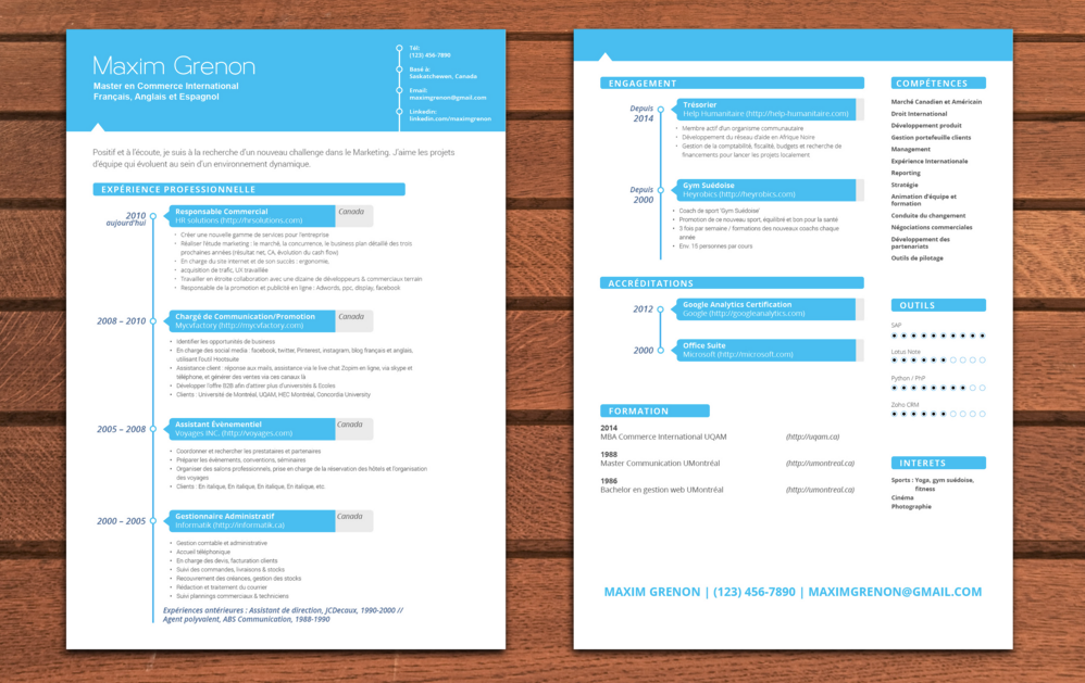 comment faire un cv sur 2 pages