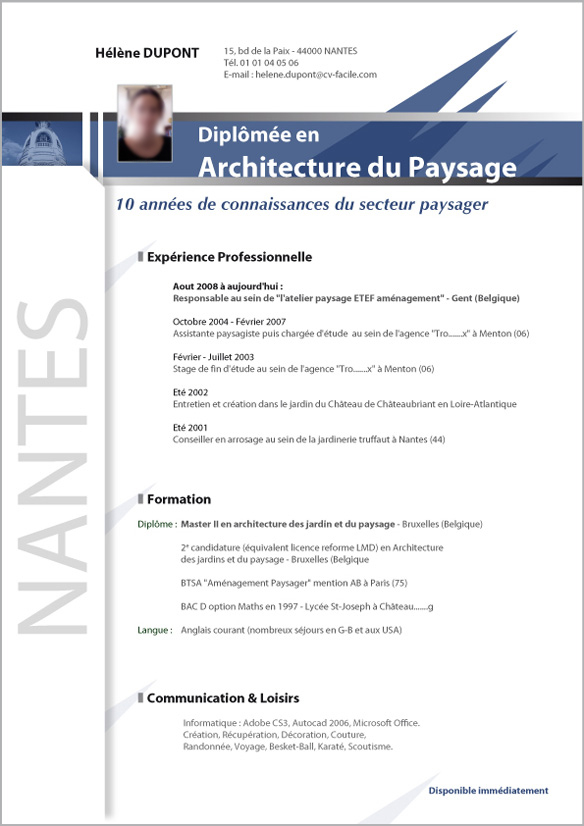 conseil cv architecte