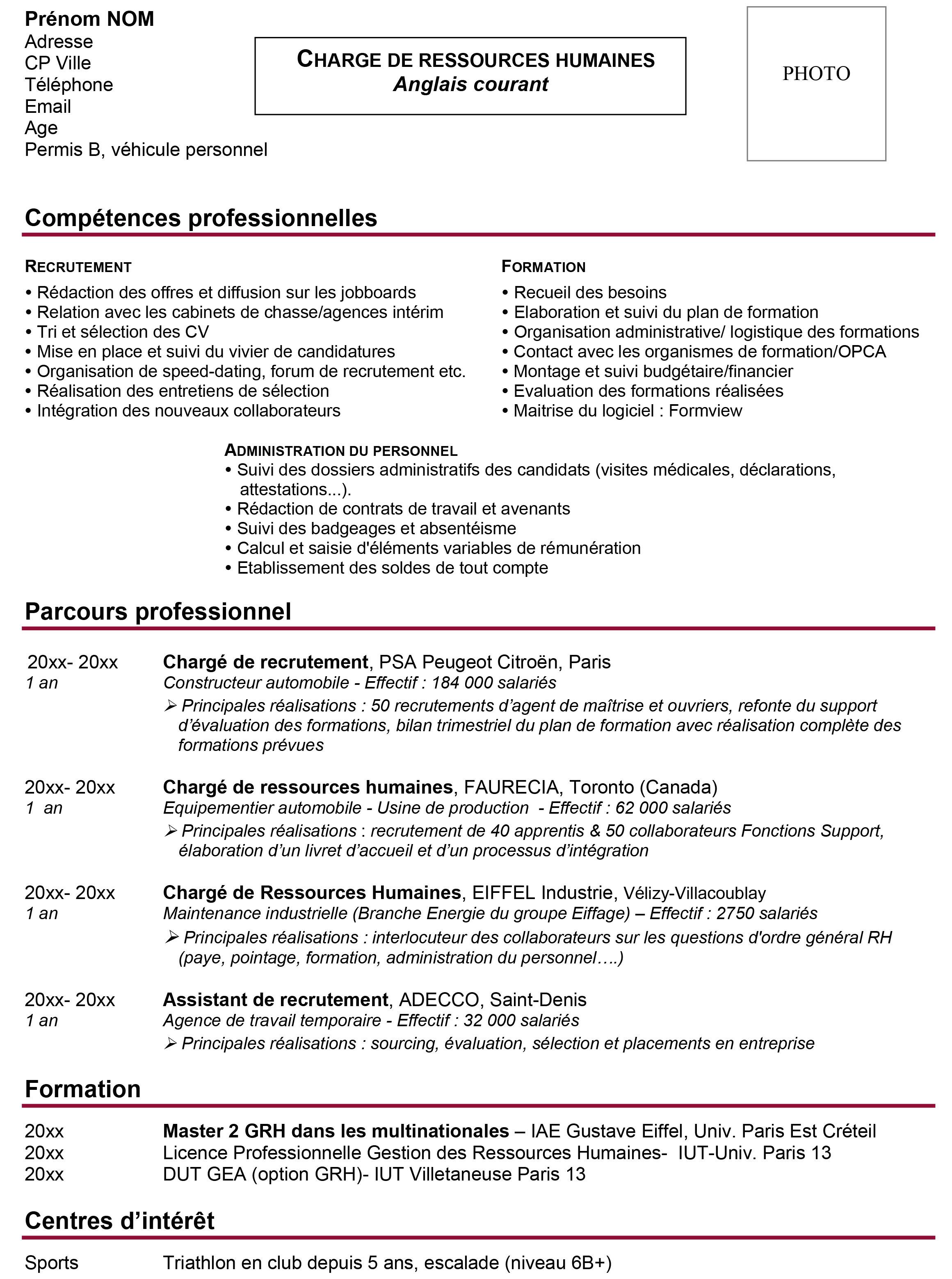 conseil cv competences