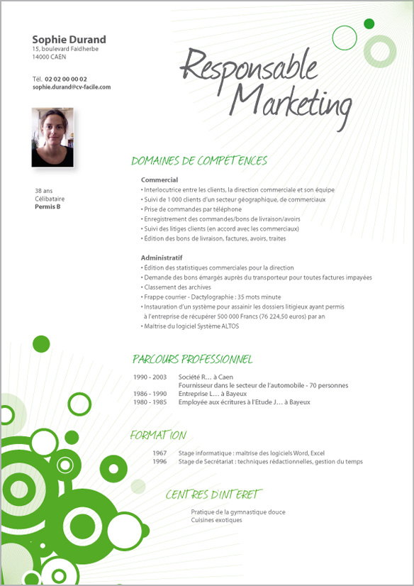 conseil cv marketing