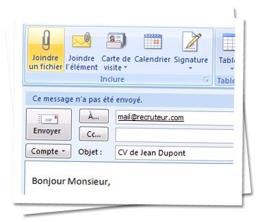 ecrire un cv par mail