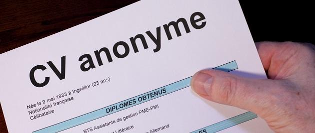 faire un cv anonyme