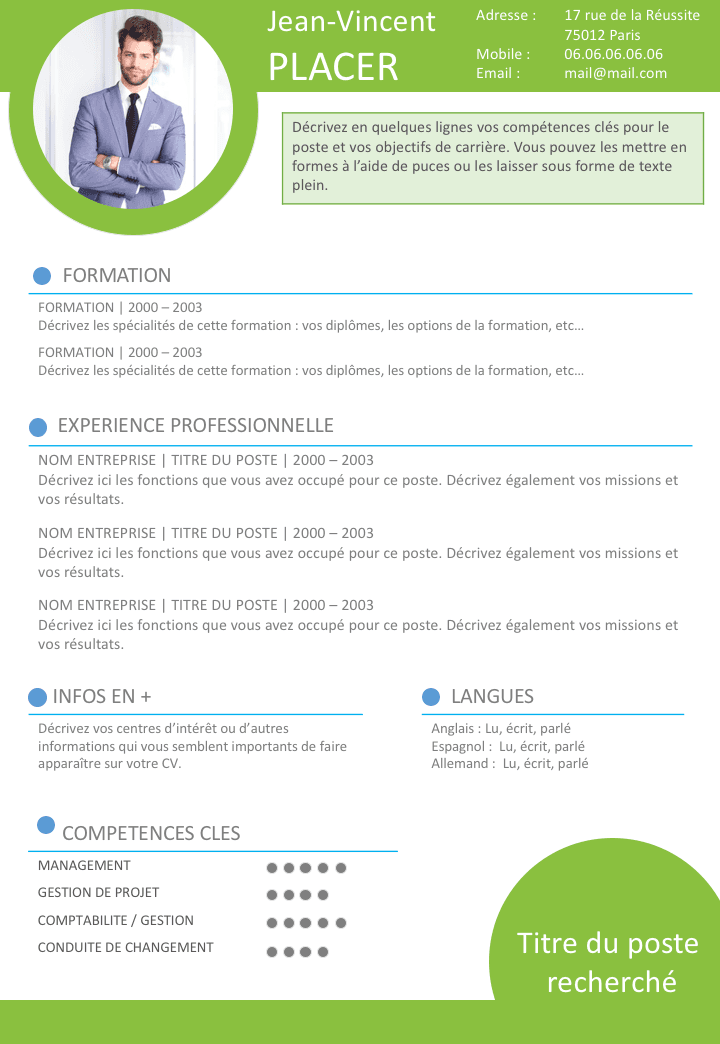 faire un cv attractif