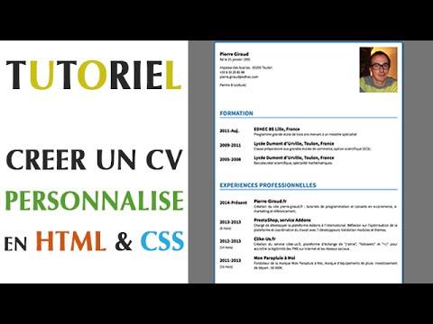 faire un cv html