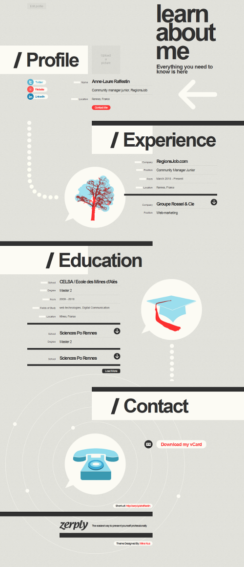 faire un cv infographie