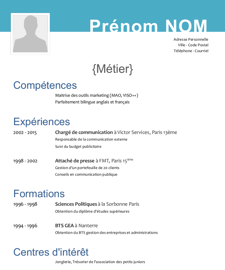Faire Un Cv Libre Office