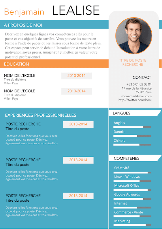 faire un cv marketing