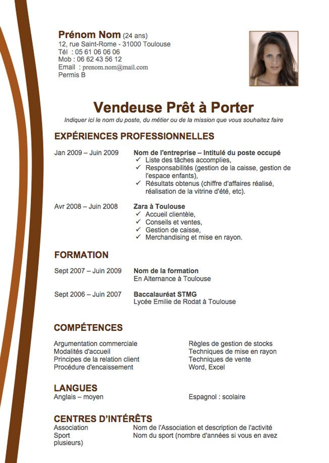 faire un cv open office
