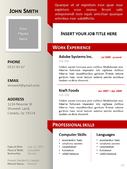 faire un cv original avec powerpoint