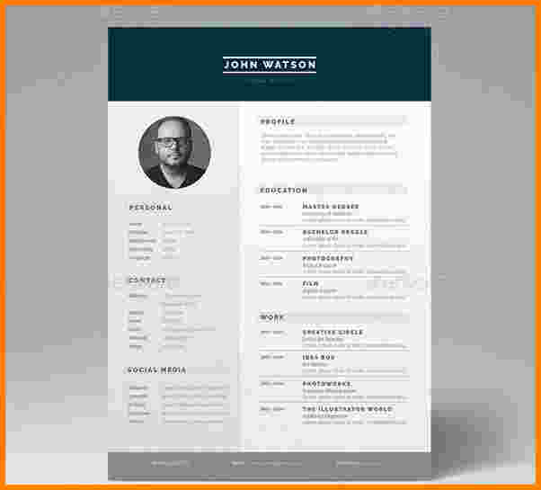faire un cv original sur indesign