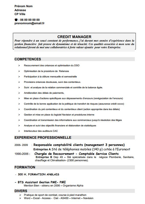 faire un cv pour un stage de 3eme
