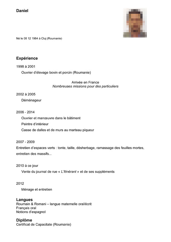 faire un cv quand on a 17 ans