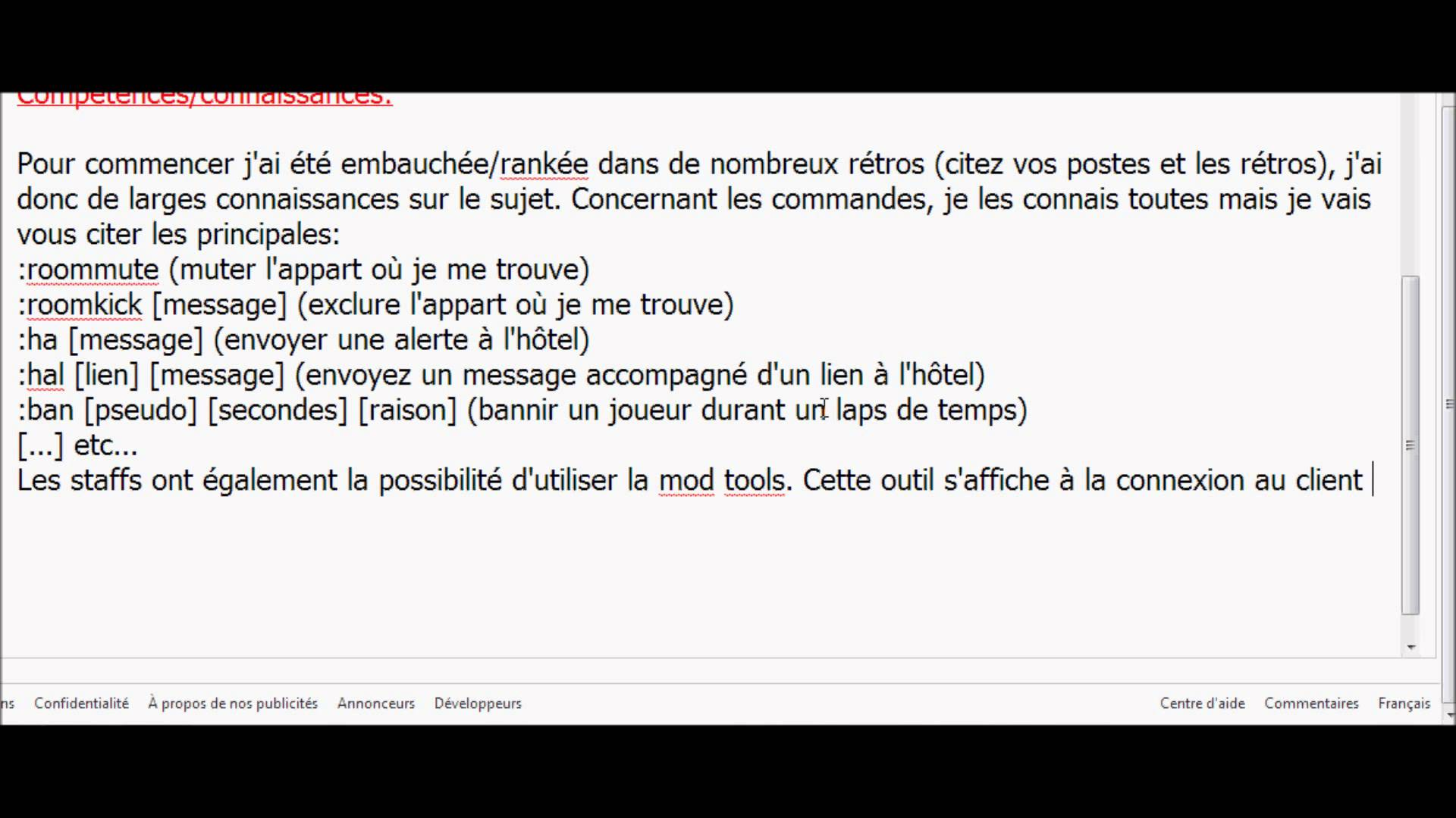 comment faire un cv habbo