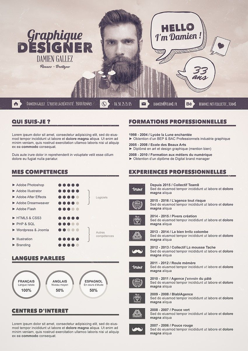 comment faire un cv original avec photoshop