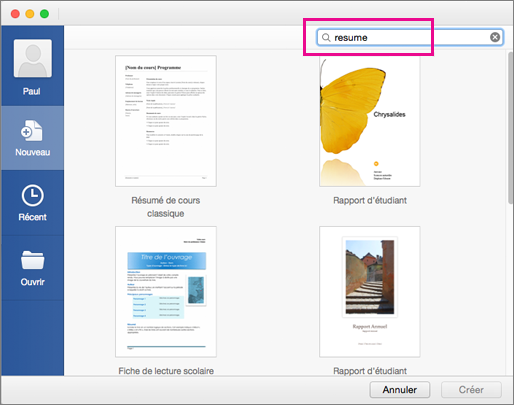 comment faire un cv original sur mac