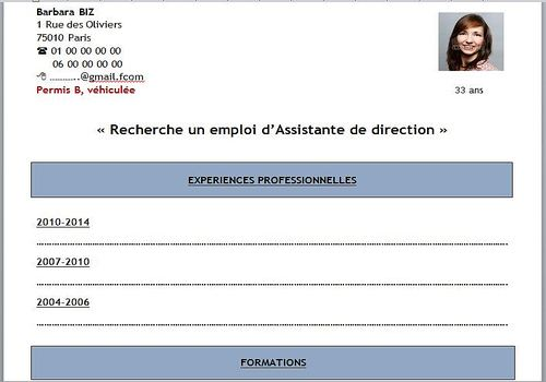 comment faire un cv simple et rapide