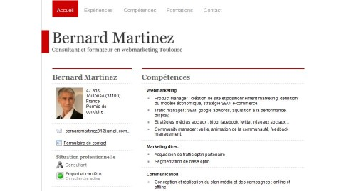 comment faire un cv web