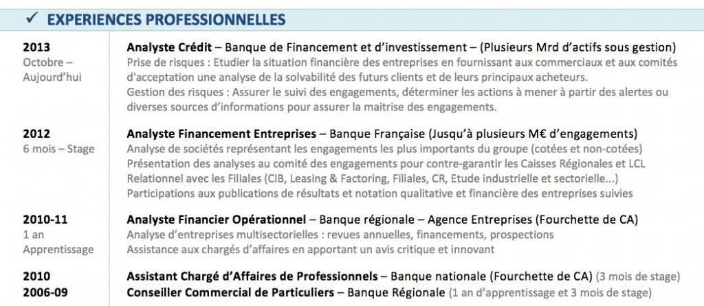conseil cv finance