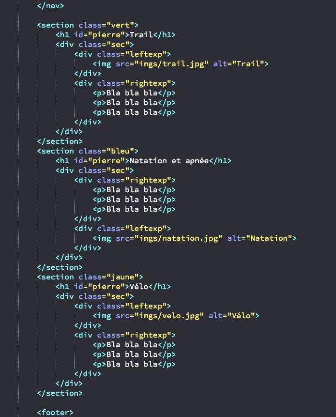 ecrire un cv en html