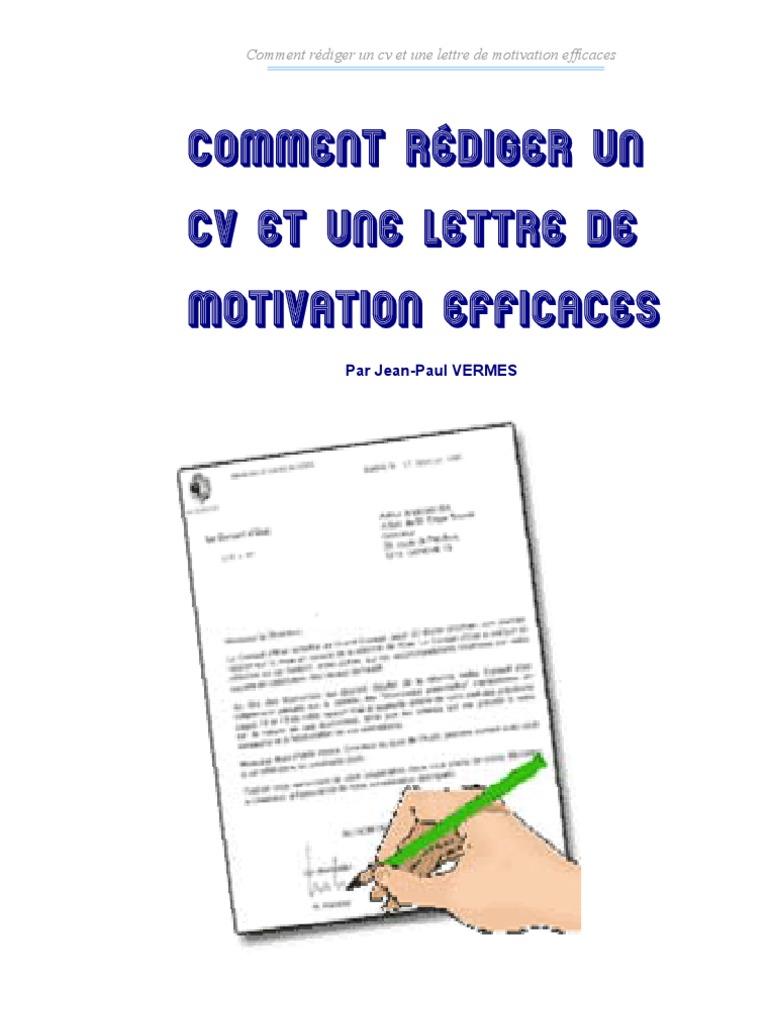 ecrire un cv et lettre de motivation