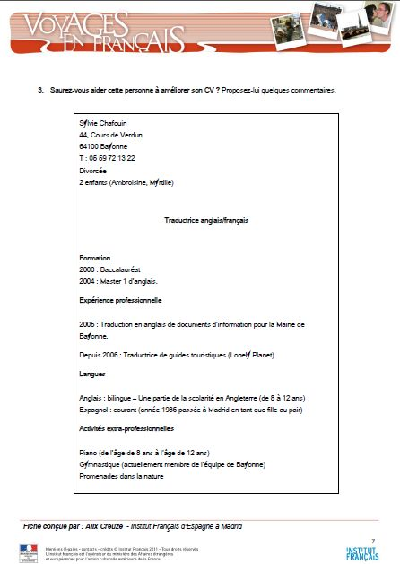 ecrire un cv pdf