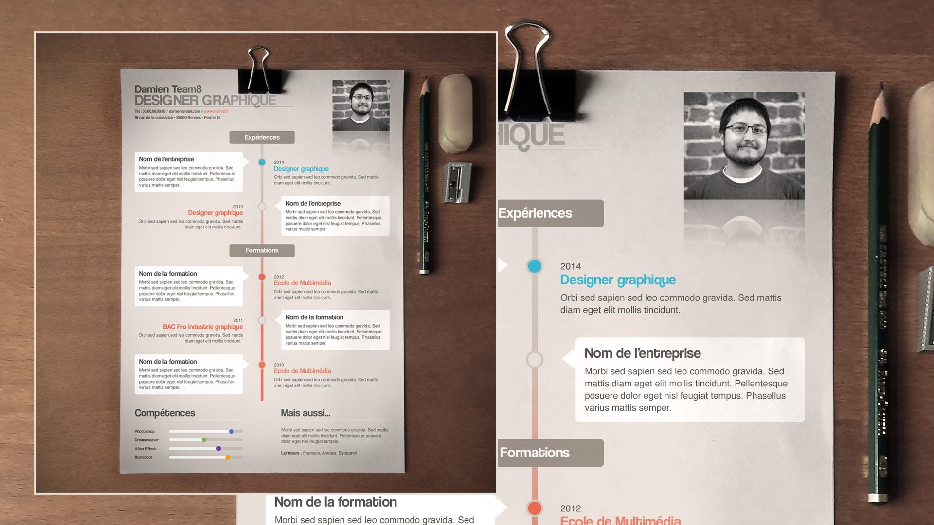 faire un cv avec indesign