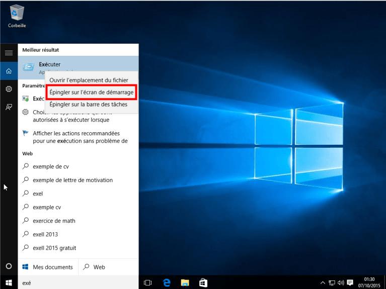 faire un cv avec windows 10