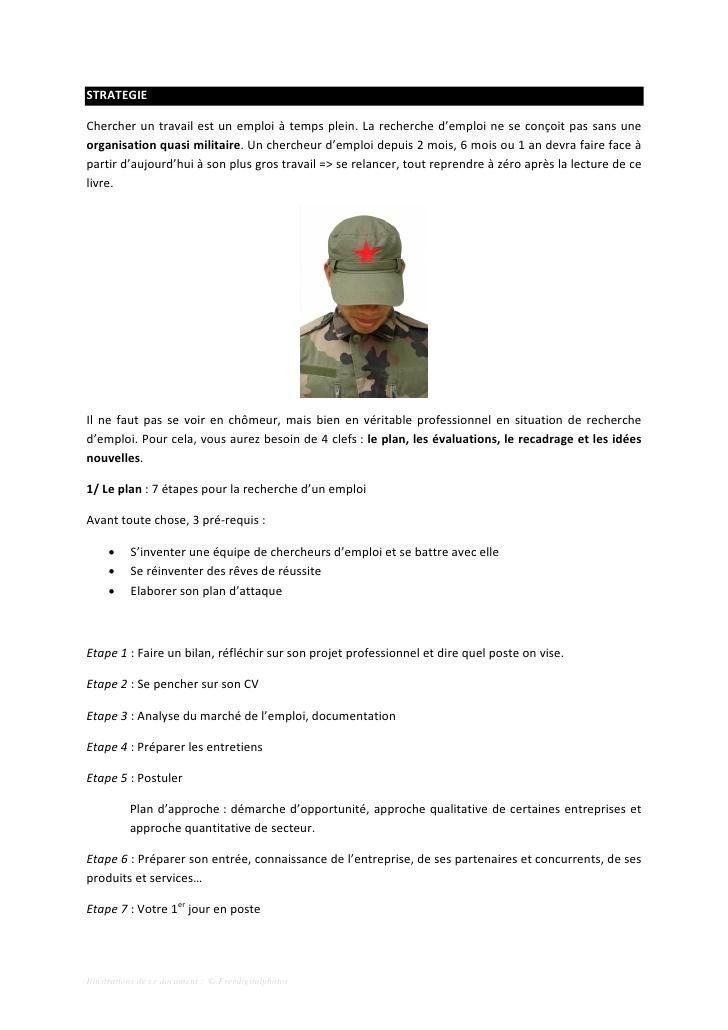 faire un cv militaire