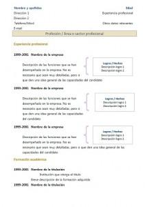 rediger un cv en espagnol