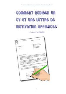 rediger un cv et une lettre de motivation